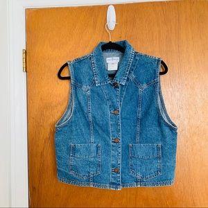 French Dressing Denim Cotton Vest Size 10